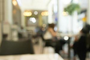 Blurred cafe scene