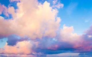 Colorful clouds with blue sky