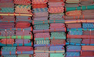 Stack of colorful cloths