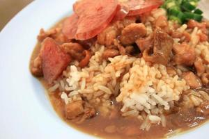 Fresh pork and rice stew