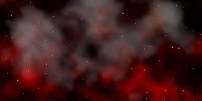 Diseño vectorial de color naranja oscuro con estrellas brillantes. vector
