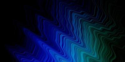 plantilla de vector multicolor oscuro con líneas torcidas.