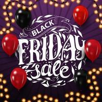 Black Friday sale, beautiful circle lettering logo