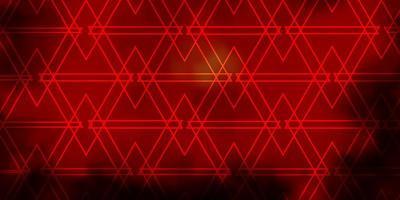 Dark Orange vector layout with lines, triangles.