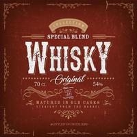 Vintage Whisky Label For Bottle