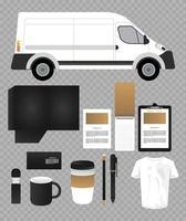 paquete de elementos de maqueta de marca vector