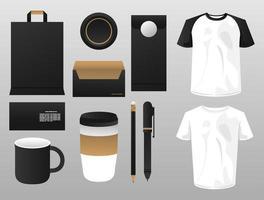 bundle of mockup elements branding vector