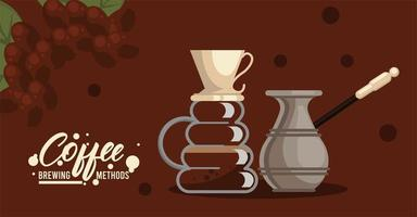 pour over and turkish coffee brewing methods