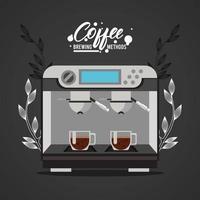 espresso machine coffee brewing method vector