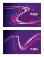 colorful light trail in purple backgrounds vector