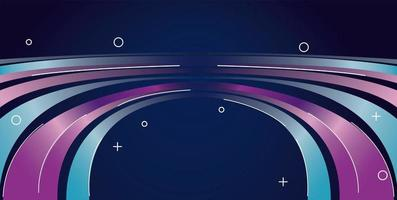 colorful light trail in purple and blue background vector