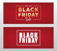 black friday sale banner with golden and white letterings