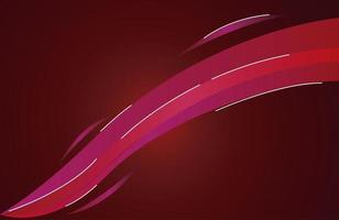colorful light trail in red background vector