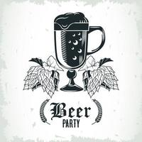 beer mug and hops isolated icon vector