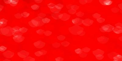 Light Red vector pattern with spheres.