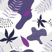 patrón transparente de naturaleza abstracta. jardín botánico moderno de memphis, ilustración vectorial lista para imprimir.