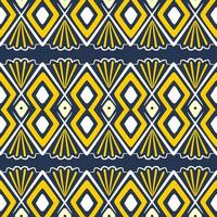 Hand drawn ethnic seamless pattern. Vector illustration aztec, african, tribal motifs background.