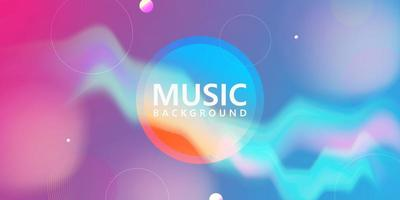 Neon glowing wave. Music Trendy Fluid Blurred Gradient Background. vector