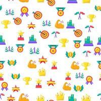 Award and winner seamless pattern vector