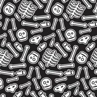 feliz halloween de patrones sin fisuras. Fondo de miedo y terror. vector