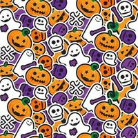 Happy Halloween Seamless Pattern. Scary and horror background vector
