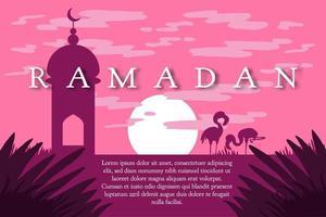 saludo de Ramadán Kareem vector