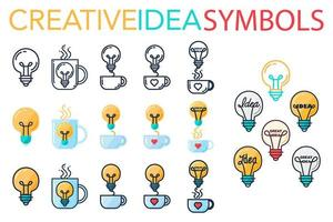 logo de idea de éxito creativo vector