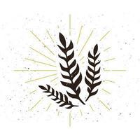 logotipo de silueta de planta retro vector