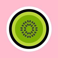 Kiwi cartoon sticker vector