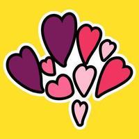 vector de dibujos animados amor romántico signo