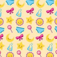 Baby shower cute pattern background vector