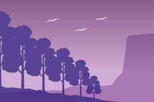 Wanderlust forest landscape scene vector