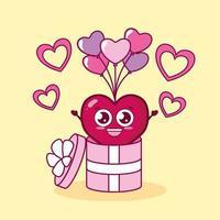 diseño de san valentín con carácter de corazón. vector