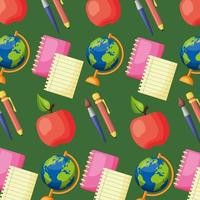Back to school poster pattern background vector