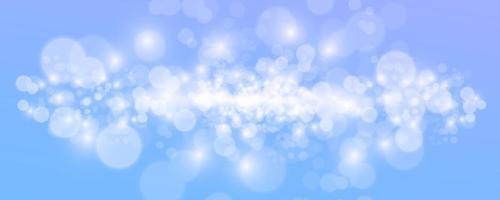 Fondo abstracto azul bokeh. ilustración vectorial vector