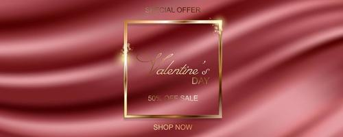 Happy Valentines Day sale banner vector