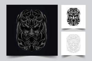horror satan artwork illustration vector