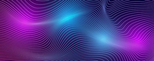 Tech background with abstract wave lines. vector