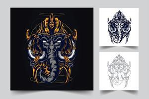 elephant artwork illustration vector