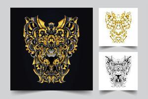 lion ornamental artwork illustration vector