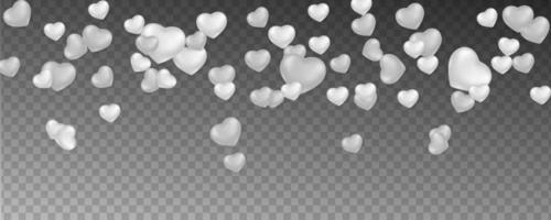 fondo romántico con corazones cayendo vector