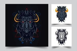 bull artwork illustration vector