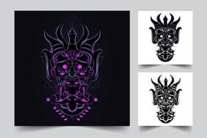 ilustración de ilustraciones de máscara de diablo vector