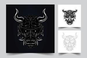 ilustración de arte satanás vector