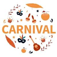 Brazil Carnival Collection Element Vector
