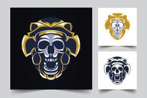 skull mascot artwork illustration vector
