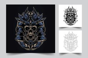 skull artwork illustration vector