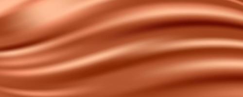 Golden Silk Fabric Abstract Background, Vector Illustration