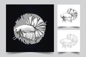 betta fish artwork vector