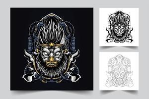 monkey artwork illustration vector